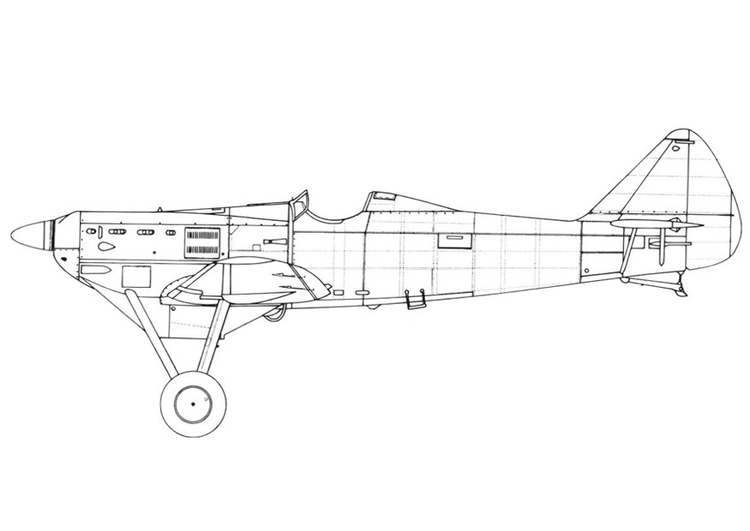 Coloring page Aeroplane - D500