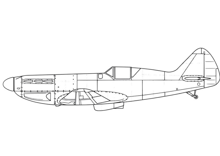 Coloring page Aeroplane - D551