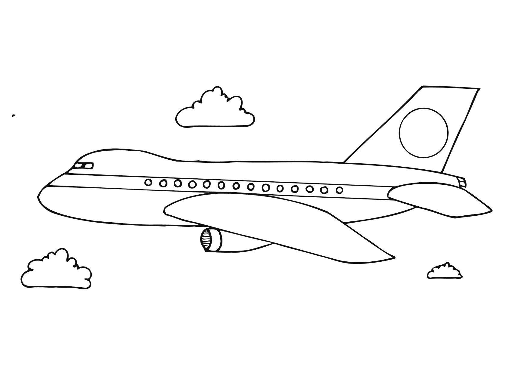 Coloring page aeroplane img 12281