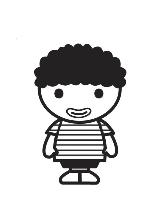 Coloring page African Child