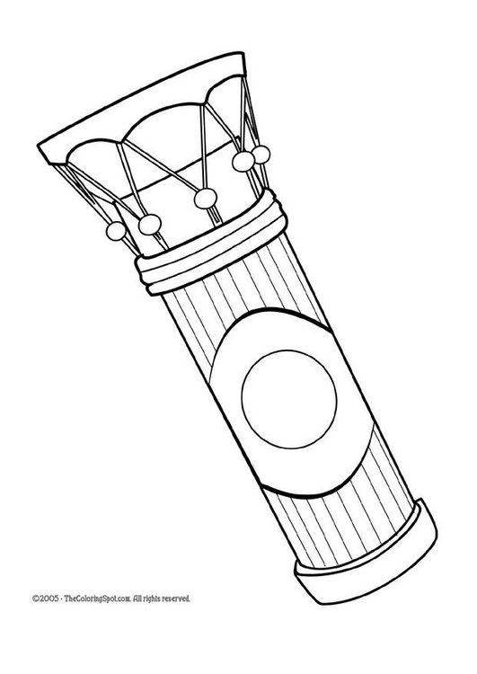 Coloring page african drum