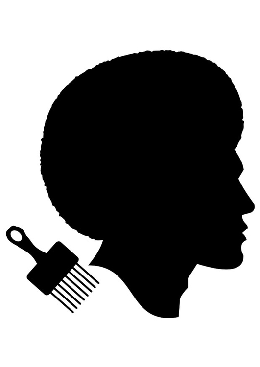 Coloring page African haircut for men