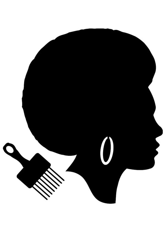 Coloring page African haircut for women
