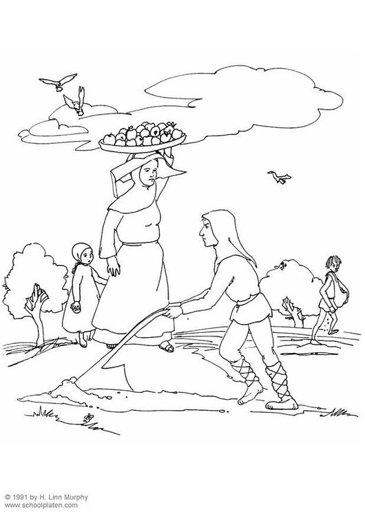 Coloring page agriculture in the middle ages