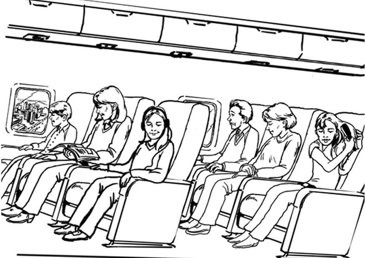 Coloring page air travel