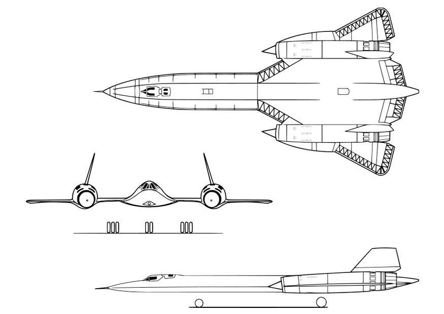 Coloring Page Aircraft Lockheed Sr 71a Free Printable