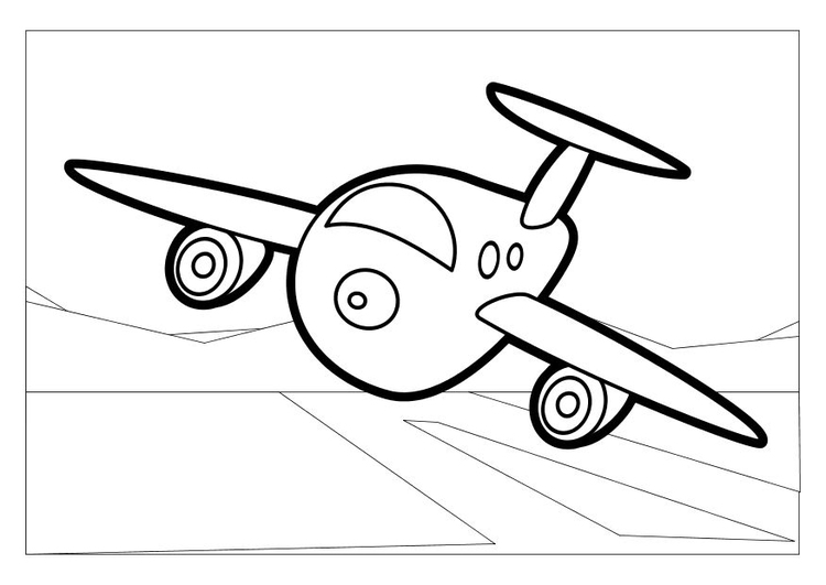 Coloring page airplane