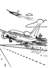 Coloring pages airplane - pollution