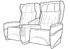 Coloring page airplane seats