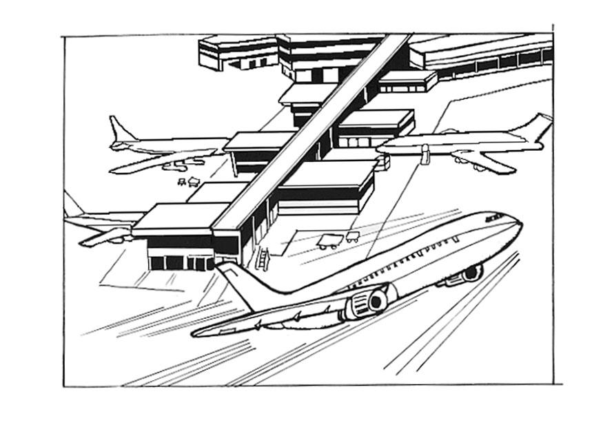 airport maps coloring pages | Coloring page airport - img 9534.