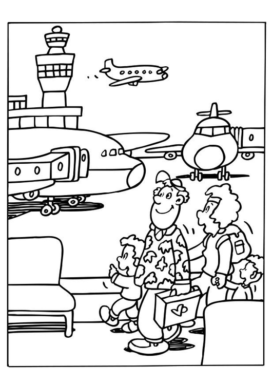 Coloring page airport