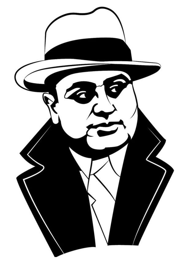 Coloring Page Al Capone Img 24679