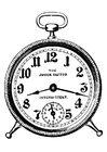 Coloring pages alarmclock
