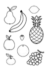 Coloring pages all fruit together