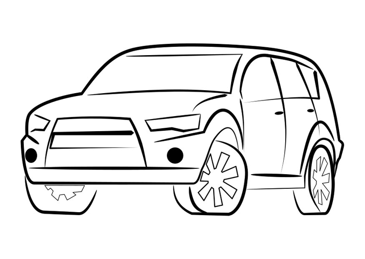 Coloring page all-terrain vehicle