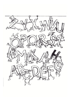 Coloring page alphabet