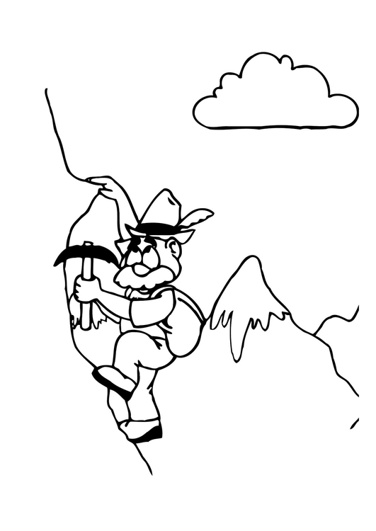 Coloring page Alpinist