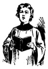 Coloring pages altar boy