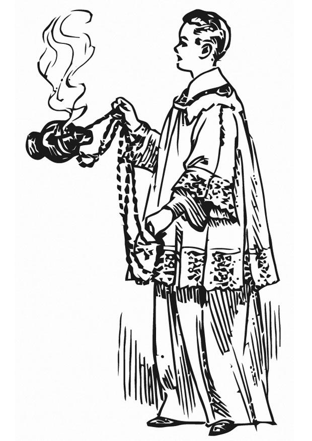 Coloring Page Altar Server Img 13301