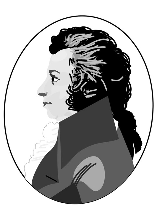 Coloring page Amadeus Mozart