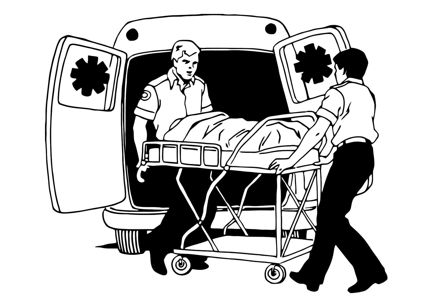 Clip Art Paramedic Coloring Pages coloring page ambulance img 11373 download large image