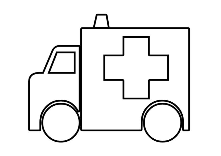 download large image - Ambulance Coloring Pages Printable