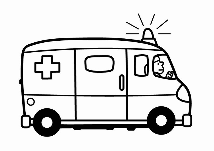 Coloring page ambulance