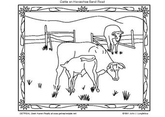 Coloring page american cattle