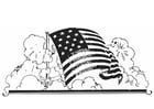 Coloring pages American flag
