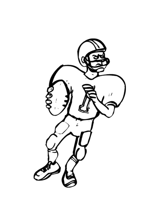 Coloring page american footbal