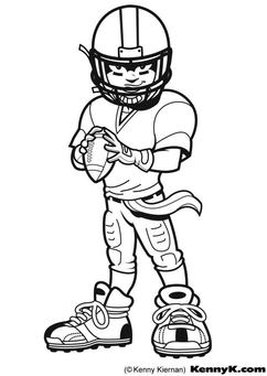 Coloring page American Football