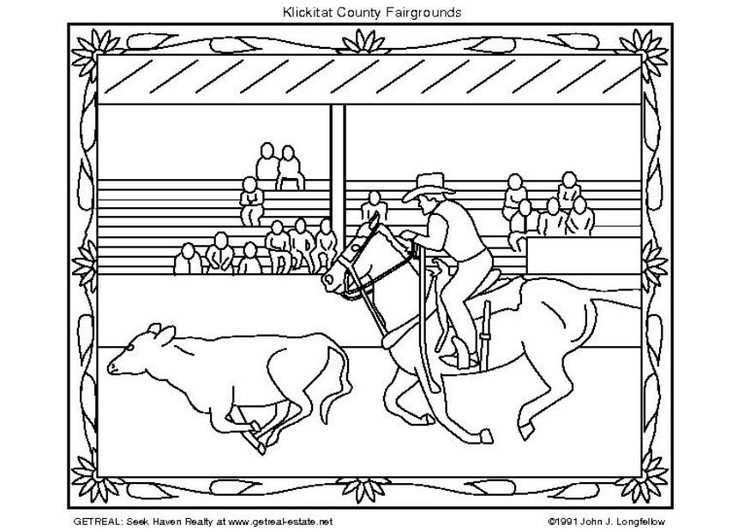 Coloring page american rodeo