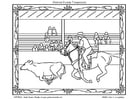 Coloring pages american rodeo