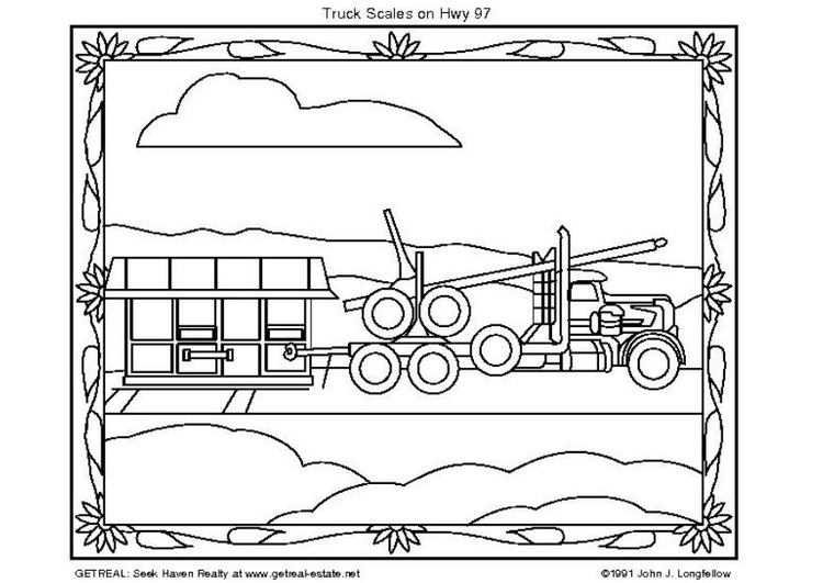 Coloring page American Truck