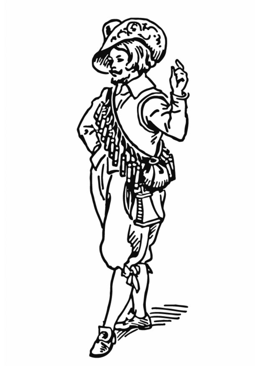 Coloring page Ammunition belt - Bandolier