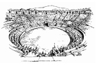 Coloring pages amphitheater
