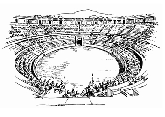 Coloring page amphitheater