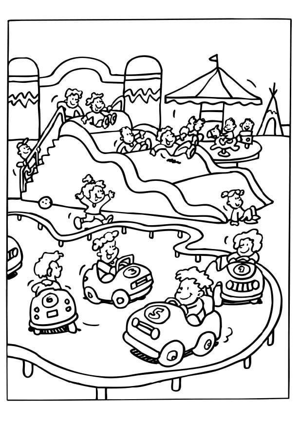 Coloring page amusement park img 6536 for Amusement park coloring pages