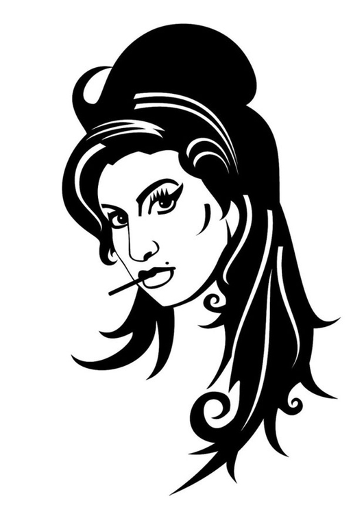 Coloring page Amy Winehouse