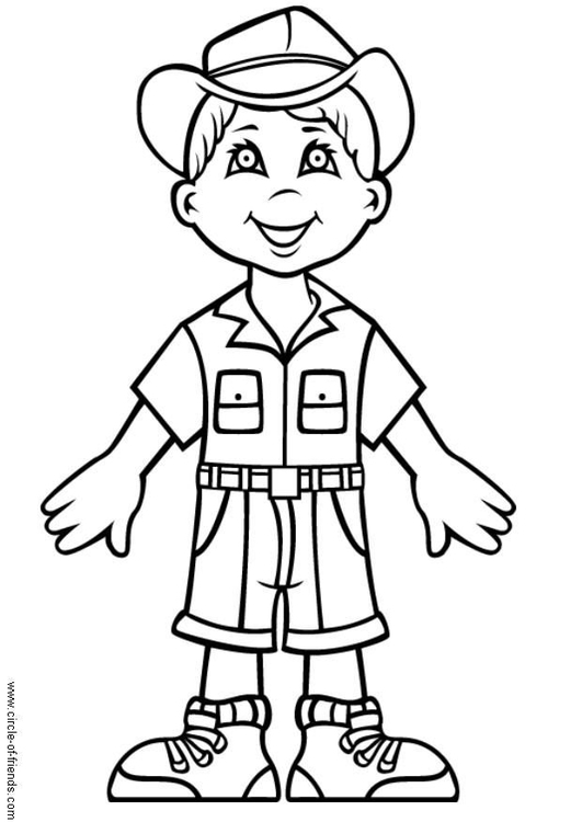 Coloring page Andrew