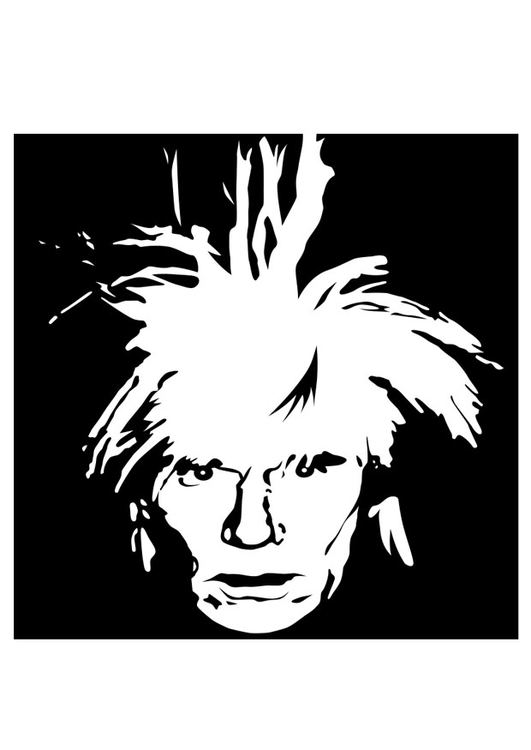 Coloring page Andy Warhol img 22451