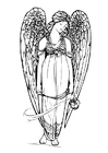 Coloring page angel