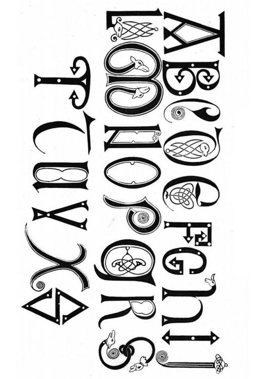 anglo-saxon alphabet 8th and 9th century
