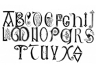 Coloring page anglo-saxon alphabet 8th and 9th century