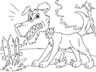 Coloring pages angry dog