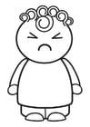 Coloring page angry