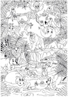 Coloring page animals in the jungle