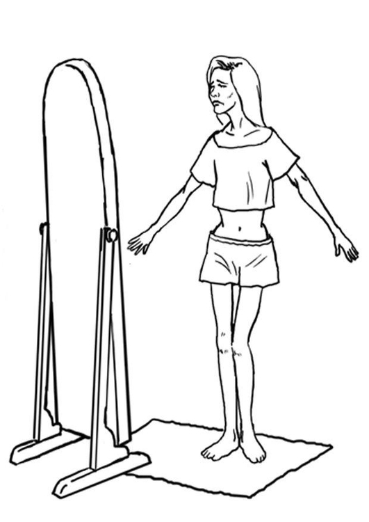 Coloring page anorexia