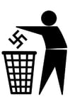 Coloring page antifascism logo