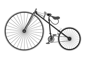 Coloring page antique bicycle